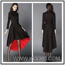 China Supplier Ladies Designer Fashion Dress Balck Red Cocktail Dress