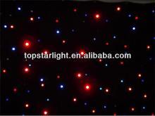 LED star cloth curtain 4*3m fiber optic lighting star cloth