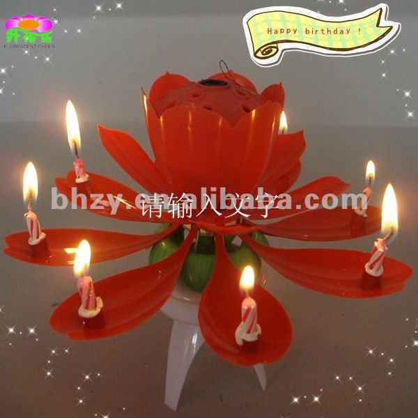 Bh-jx07 bolo de aniversário velas decorativas para presente com música artifício vela