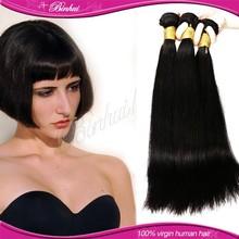 "100% unprocessed virgin Malaysian human hair extension 100g 8"" 1B straight hair weave"