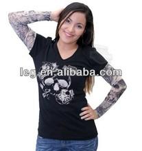 delle donne per sempre firmato cranio con rose maglia maniche tattoo