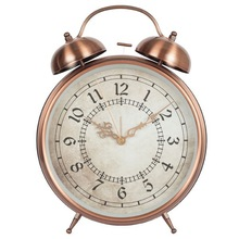 Guangzhou metal desk analog vintage decorative housewares gift clock table alarm