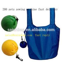 Ball pouch Eco Handbag Carrier Grocery Tote Reusable nylon Shopping Bag Foldable