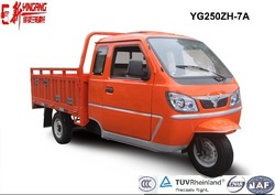 Yingang Cargo Tricycle with Cabin ,250CC Water Cooled Engine Three Wheel Motorcycle,Powerful Motorcycle