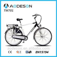 "2014 hot sale 28"" aluminium frame city e bike TM701 for man /8fun motor city electric bike/electric motorcycle"