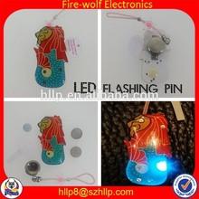 Shantou led pin factory supply lion led flashing pin and many kinds novelty led gift