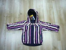 Enfants rembourrage coloré Stripe Hoodie veste
