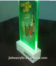 Best seller LED acrylic restaurant menu display stand
