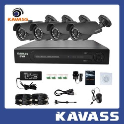 KAVASS 4CH 1.3Megapixels AHD security camera Kit System/HD-AHD Camera Kit,Camera Security System DVR(CLG-4H130A)