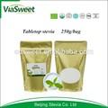 natural tapa de la mesa el azúcar de stevia