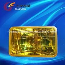 H3 bulb chrome housing round shape yellow lens OEM halogen fog lamp manufacturer