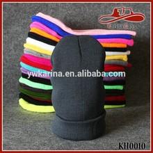 Winter Skull Hat Unisex Men And Women Warm Cuff Plain Wool Knit Hats Beanie