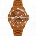 Baja precio de silicona reloj, reloj pulsera de silicona