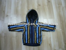 Enfants rembourrage coloré Stripe Hoodie veste