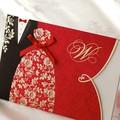 بطاقة دعوة الزفاف الفخمة تصميم الطباعة
