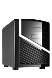 Cube Mini ITX CASE and Micro ATX HTPC COMPUTER Case With LED Fan
