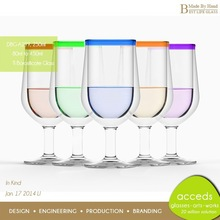 Eco Friendly Handcrafted Tulip Shaped Soft Drinking Glass