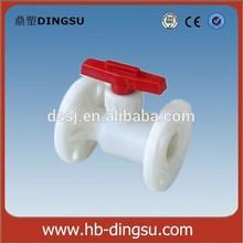 ISO/ASTM/DIN Standard DN32 White PVC Flange Ball Valve