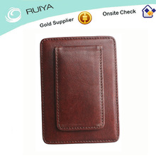 Tree cream skin best quality and crafts genuine leather men leather money clip