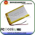 Venta caliente 606090 tablet pc de la batería de vídeo 3.7v 4000 mah batería plana