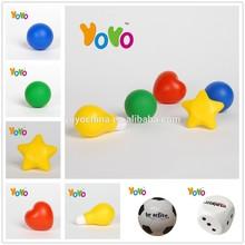 YOYO PU001 Top Quality 2015 Cheap Smile Logo Anti Stress Ball/PU Stress Ball/Stress Ball