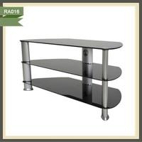 Home Furniture Modern Design Tempered Glass Plasma Living Room TV Stands and TV Cabinet RA016