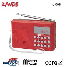 portable fm radio usb mini speaker L-996 can select songs high quality