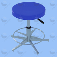 Professional high quality plated axial lead laboratory hospital school lab furniture laboratory chair round stool