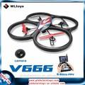 Wltoys gw-tv666 5.8g em tempo real a transmissão de imagem 6 eixo grande drones para fotografia aérea fpv ufo aviões de controle remoto com giroscópio