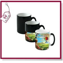 11oz Matte/Glossy Coated Sublimation Temperature Color Change Cup 6 colors Ceramic Magic Mug for Advertising