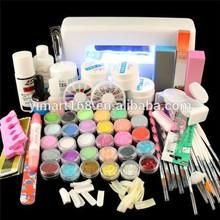 Yimart Professional Uv Gel Nails Kit Brush Pen Uv Lamp Nail Art DIY Manicure Kit