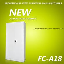 Office furniture swing 2 door steel storage cabinet with shelf