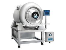 Vacuum tumbler for meat processing machine