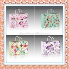 2015 beautiful flowers shopping&gift paper bag chinese wholesaler