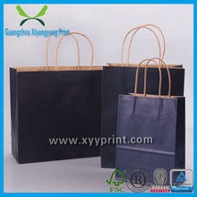 Custom Printed Brown Shopping Kraft Paper Bag With Logo Printing