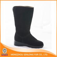 comfortable genuine sheepskin woman boot