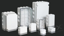 NEW and High quanlity waterproof electric plastic enclosure with knock-out from TIBOX, China