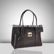 JL093-ladies fashion genuine leather tote bag hot sale woman wholesale