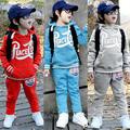 Atacado outono e inverno roupas roupas novas crianças coreanas meninos feminino calças compridas terno do bebê menino roupas de natal