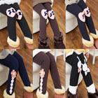 kz-5263 wholesale2014 winter Korean version of the new wild child baby girls plus thick velvet leggings long pants