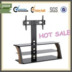 Modern lcd movable glass tv stand lift cabinet bracket DG048