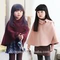 Wt-1389 venta al por mayor de moda deinvierno los niños ropa de niño ropa de niños de corea chica baratos nueva moda casual del cabo capa suéter del cabo