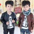 Wt-0036 wholesale2014 Herbst-und winterkleidung koreanische version der neuen herrenbekleidung Kind lederjacke