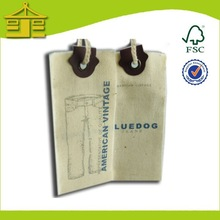 direct factory cotton hang tag printing with eyelet for jeans clothing/socks from factory