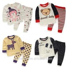 Tz-1777 wholesale fashion children 2015 spring child clothes kids clothing boys girls Korean teen sport thermal underwear sets