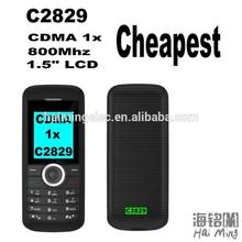 C2829 gift CDMA mobile phones 1.5' MSN 1100 CPU hot model CDMA800