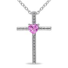 Cross mandala love pendant