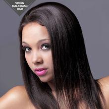 VV Black Women American Quality Virgin Remy Malaysian Alibaba Express Yaki Full Human Lace Wig