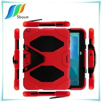 Factory price!3 in 1 Hard case for apple ipad air 2 case