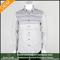 homens de manga comprida camisa lisa com punho design